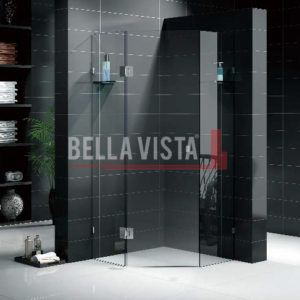 Custom Fully Frameless Shower Screen - Diamond - Multiple Sizes