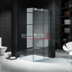 Kit - Fully Frameless Sliding Shower Screen - Every Day Size 1200x900mm