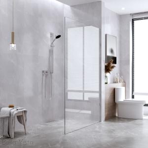 Fully Frameless - Walk in Shower Screen Fixed Panel - Multiple Sizes