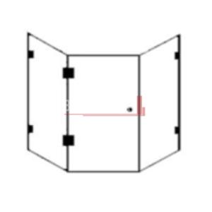 ully Frameless Shower Screen Builder's Range Diamond 900mm