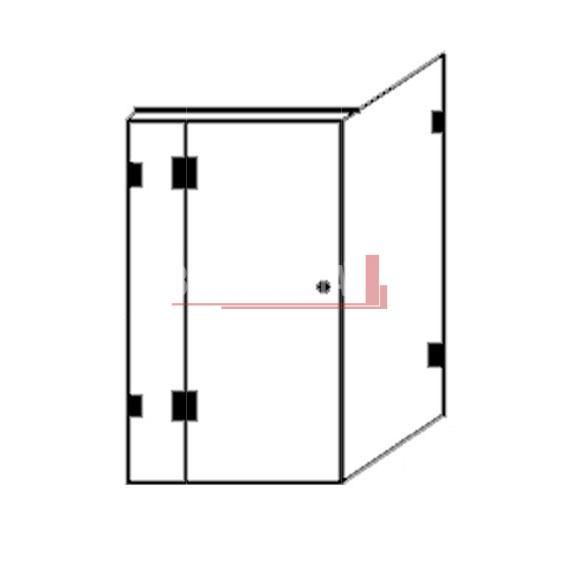 Kit - Fully Frameless Shower Screen - Every Day Sizes