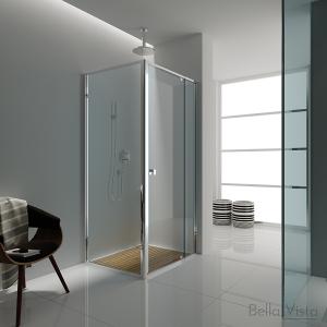 Semi Frameless Shower Screen – Front and Return - Multiple Sizes