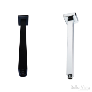 Roof Shower Pipe - 'Deko' Square - 150mm/300mm/450mm/500mm/600mm