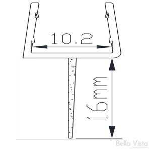 Shower Screen Water Seal – Centre Strip