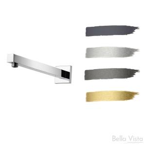 Wall Shower Pipe - 'Deko' Square - 450mm