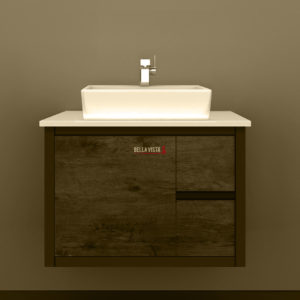 BV-875T Clarissa Wall Hung Vanity 750mm American Oak Stone Top