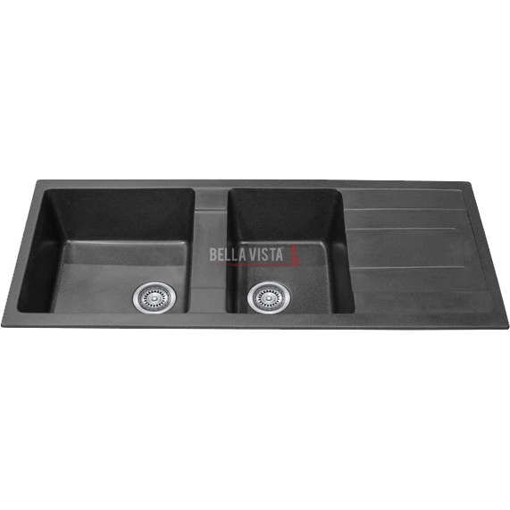 Bowl Black Kitchen Sink with Drainer