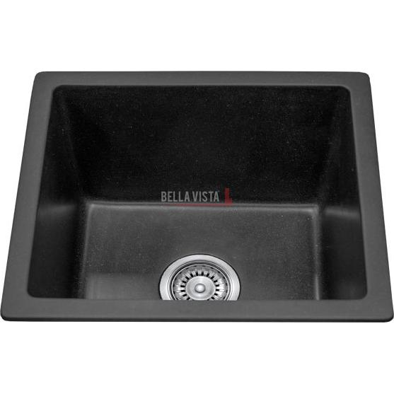 Single Bowl Black Kitchen Sink 460 x 410mm