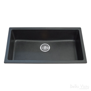 Single Bowl Black Kitchen Sink 790 x 460mm