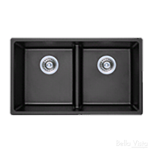 Double Bowl Black Kitchen Sink 790 x 460mm