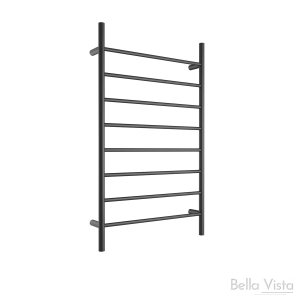 Towel Ladder - Round - 1150 x 700mm - Black