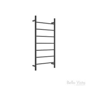 Towel Ladder - Round - 920 x 460mm - Black