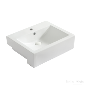 'Semi Recessed' Ceramic Basin - 520x430x160mm