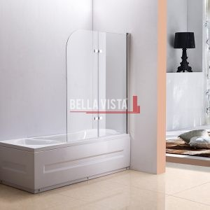 Fully Frameless - Over Bath - Every Day Double Swinging Bath Screen - 1000mm
