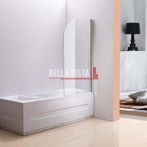 Fully Frameless - Over Bath - Every Day Single Swinging Bath Screen - 750mm