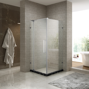 Adjutable Fully Frameless Shower Screen - Front and Return - Multiple Sizes