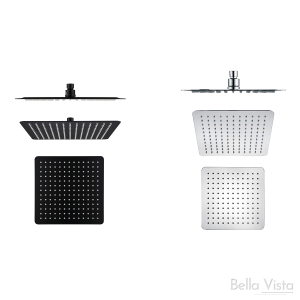Shower Head Rainfall 'Stainless' - Square - 250mm
