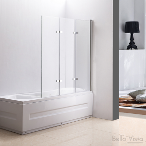 Fully Frameless - Over Bath - Every Day Bifold Double Door Bath Screen - 1200mm