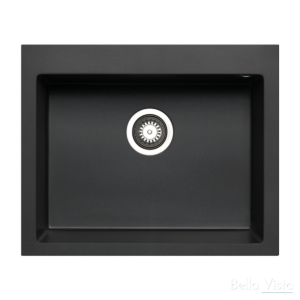 Pradus Single Bowl Black Kitchen Sink 610 x 500mm