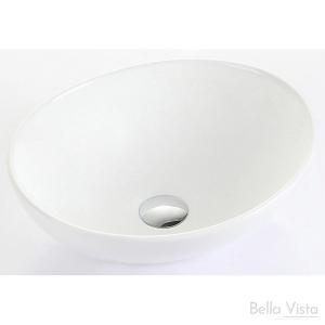 'Oval' Ceramic Basin - 405x335x145mm