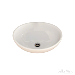 'Oval' Ceramic Basin - 405x335x145mm - White