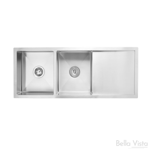Double Bowl with Drainboard 'BV Trade' - Kitchen Sinks -1160 x 460 x 200mm